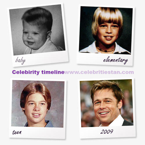 celebrity timeline picture of brad pitt