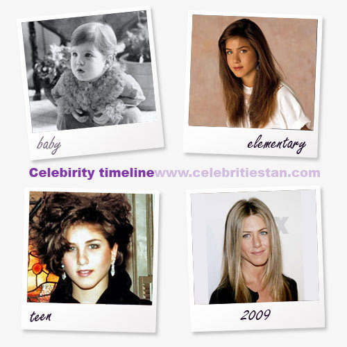 celebrity timeline picture of jennifer aniston