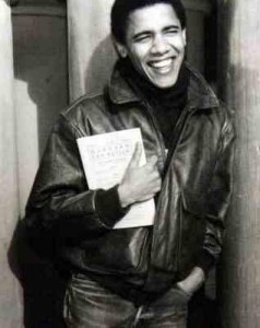 Barack Obama  at college