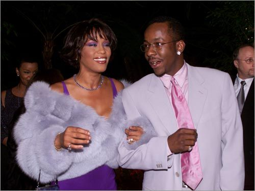 Whitney Houston and her ex-housband Bobby Brown.