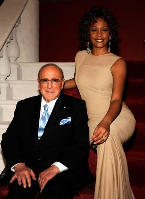 Whitney and Clive Davis 2009.