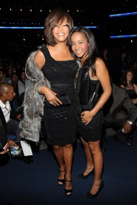 Whitney Houston and her daughter Bobbi Kristina.