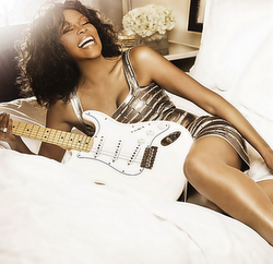 Whitney Houston posing it up in this new promotional shot for her forthcoming world tour 'Nothin' But Love'